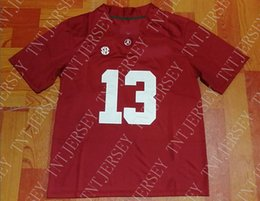 Cheap custom Alabama Crimson Tide  13 Tua Tagovailoa Red College Football  Jersey Stitched Customize any number name MEN WOMEN YOUTH XS-5XL 46c522a96