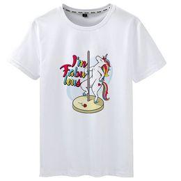 $enCountryForm.capitalKeyWord Australia - Fabulous t shirt Pole dance unicorn short sleeve tees Sexy gown tops Fadeless print clothing Pure color colorfast modal tshirt