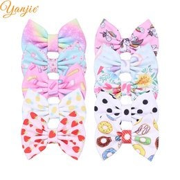 $enCountryForm.capitalKeyWord UK - pparel Accessories Headwear 10pc lot Waffles Bows Barrettes 5'' Floral Texture Hair Clips For Kids 2019 New Arrival Party DIY Hair Acces...