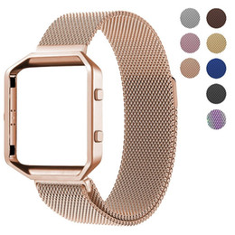 $enCountryForm.capitalKeyWord Australia - Milanese loop + Frame Housing For Fitbit Blaze Accessory Band Oitom Stailess Steel Band for Fitbit Blaze Smart Watch Fitness