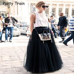 Black Satin Maxi Skirt NZ - Fashion Skirt Tulle Skirts Long Womens Maxi  Skirts 2018 Spring 63945f8f1