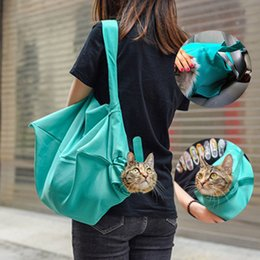 $enCountryForm.capitalKeyWord Australia - Pet Dogs Cats Outdoor Travel Bags Portable Breathable Sling Carriers Hand Free Shoulder Pet Pouch Tote Bag Small Animal Supplies
