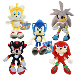 """$enCountryForm.capitalKeyWord Australia - Blue Sonic Plush Toys the hedgehog Sonic Tails Knuckles the Echidna Stuffed With Tag 9""""23cm Free Shippng"""