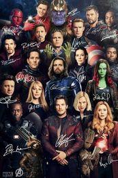 Großhandel Avengers Endgame Signed Movie 2019 Kunstdruck Poster 24x36inch (60x90cm) 083