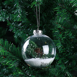 clear plastic tree balls NZ - Clear Plastic Christmas Ball Ornament (4inch  100mm) Gifts Tree Pendant Christmas Decoration Factory Wholesale Free Shipping to USA