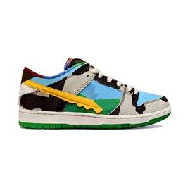 Ingrosso Latte SB Dunk Chunky Dunky scarpe gelato in vendita con la scatola 2020 uomini donne 5 colori Tenete Scarpe casual immagazzinano size36-45