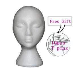 Femme Styrofoam Mannequin Mannequin Head Modèle Mousse Wig Perruque Chapeau de cheveux Lunettes Affichage en Solde