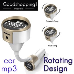 Usb Mp3 Player Adapter Australia - Car Bluetooth FM Transmitter Wireless Radio Adapter Hands free Car Kit MP3 Player with 3.4A Dual USB Car Charger, AUX Input DHL free sipping