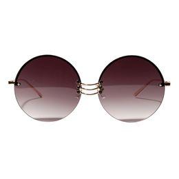 5d47d5c03ce Wholesale Festival Sunglasses UK - Retro Round-shaped Borderless Hip Hop  Clear Colored Lens Festival