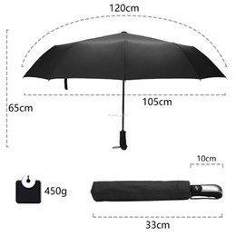Umbrella men black online shopping - 2019 Wind Resistant Folding Automatic Umbrella Rain Women Auto Luxury Big Windproof Umbrellas Rain For Men Black Coating K Parasol
