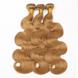 $enCountryForm.capitalKeyWord Australia - RXY Wholesale #27 Body Wave Bundles Blonde Brazilian Hair Weave Bundles 3 Pc Bag Colorful Human Hair Bundles Brazilian Body Wave