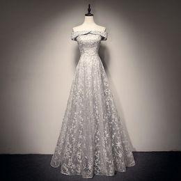 $enCountryForm.capitalKeyWord NZ - SOCCI Elegant Boat Neck Long Prom Dresses 2019 Beading Crystal Off Shoulder Lace Up A Line Floor Length Prom Dress Plus Size New