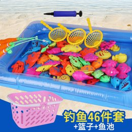 $enCountryForm.capitalKeyWord Australia - Outdoor Fun Sports Fishing Toys 15 pcs - 55 pcs With Inflatable pool Magnetic Fishing Toy Rod Net Set For Kids 3D