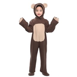 $enCountryForm.capitalKeyWord Australia - Little Bear Costume Toddlers Kid Brown Bear Onesies Animal Costumes Fancy Dress Jumpsuit with Headwear Paws Carnival Halloween Costumes