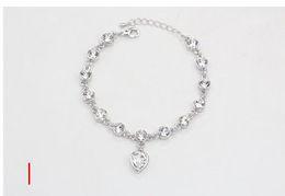 Heart ocean diamond online shopping - European and American best selling ocean heart Taoxin Austrian crystal diamond inlaid Bracelet Fashion bracelet jewelry manufacturers wholes