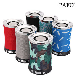 Portable Flash Drive Audio Player Australia - Bluetooth Speaker Fabric Cloth Wireless with TF Card FM Radio USB Flash Drive AUX Audio Loudspeaker Sound Bass System LN-17