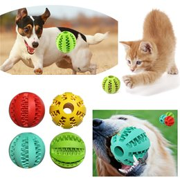 Wholesale Lighting Toys Australia - Pet Dog Toy Rubber Ball Toy Funning Light Green ABS Pet Toys Ball Dog Chew Toys Tooth Cleaning Balls of Food ST135