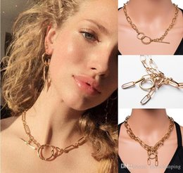Necklaces Pendants Australia - Simple Necklace Metal Chain Necklace with Cross-border Popular Ideas in Europe and America 19052018