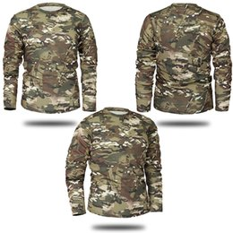 cd7531958bc Mege Brand Clothing New Autumn Spring Men Long Sleeve Tactical Camouflage T  -Shirt Camisa Masculina Quick Dry Military Army Shirt