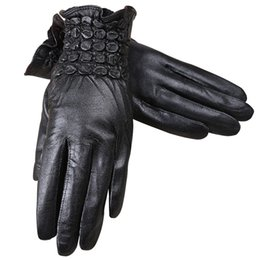 Leather Gloves For Ladies Australia - 2018 Brand Leather Gloves For Women ladies High Quality Really Leather Gloves Winter Women Winter Warm Mittens