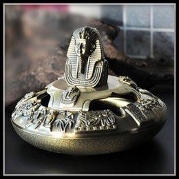 Опт Египет Пепельница Тутанхамон Пепельница Старинные Домашнего Декора Сигары Пепельницы Смешной Подарок Металлические Ремесла Elimelim