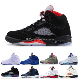 Reflected Light Australia - 5s Shoes 5 Basketball OG Black Metallic 3M Reflect Grape Oreo men shoes Red Blue Suede international flight White Cement Camo free shipping