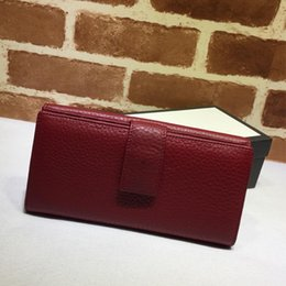 credit card wallet large UK - Long wallet, leather wallet, fashionable large-capacity flip-over buckle business leather fashion wallet,folding Wallet,coin purse337335