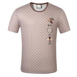 Wholesale fashion women t shirt paris for sale – custom 20SS Mens Designer T Shirt Fashion Paris Men Women Couples Casual T Shirt Black White Stylist Shirts Size M XL