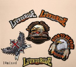 Sticker Designs For Motorcycle Australia - Iron On Patches DIY Embroidered Patch sticker For Clothing clothes Fabric Sewing motorcycle cool design