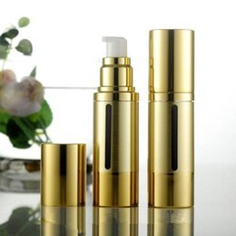 $enCountryForm.capitalKeyWord Australia - 300pcs 30ml gold airless vacuum pump lotion bottle, 30ml airless Cosmetic Container ,30ml airless Refillable Bottles cosmetic cream jars