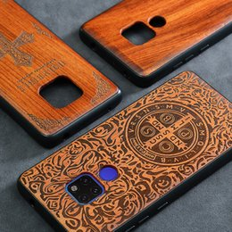 Discount wood bumper case - 2019 New Huawei Mate 20 Pro Case Slim Wood Back Cover TPU Bumper Case For Huawei Mate 20X Phone Cases Mate20