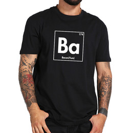 $enCountryForm.capitalKeyWord Australia - Eu Size 100% Cotton Ba Element Bacon Lover Chemistry Tops Personality Pattern O-neck Short Sleeve T-shirt