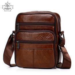 $enCountryForm.capitalKeyWord NZ - Genuine Leather Crossbody Men Messenger Bag Hot Sale Male Small Man Flap Fashion Shoulder Bags Men's Travel New Handbags Zzick