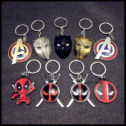 panther chain Australia - 2019 NEW Fashion Creative Alliance , Black Panther , Deadpool Series Car Keychain Man,Girls Bag Key Chain