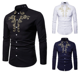 $enCountryForm.capitalKeyWord Australia - White New Men's Shirts Mens Business Casual Shirt Men Dress Shirts Long Sleeved Retro Shirt Court Embroidery