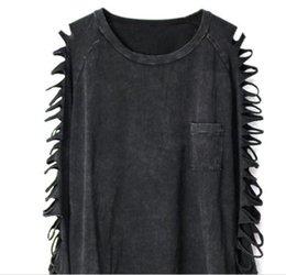 Girls Tassel Shirt Australia - 2019 fashion spring girls long sleeve Punk wind poor tassel personality wash water cotton sexy ladies T-shirt
