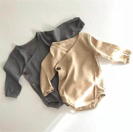 $enCountryForm.capitalKeyWord Australia - Fall Newest INS Toddler Baby Boys Rompers Cotton Fabric Blank Long Sleeve Spring Vintage Desgins Newborn Kids Boys Girls Jumpsuits