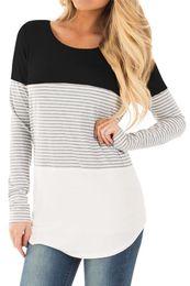 Pregnant baby shirts online shopping - Women Mom Pregnant Nursing Baby Maternity Clothing Breastfeeding Tee Nursing Tops Striped Long Sleeve Casual T shirt