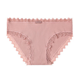 $enCountryForm.capitalKeyWord UK - Students Lace Triangle Briefs Knitted Cotton Seamless Women Panties Cute Girls Bow Breathable Underwear for Women 3pcs lot