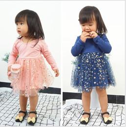 $enCountryForm.capitalKeyWord Australia - Girls Star Sequin Gauze Tutu Dresses 2018 Fall Kids Boutique Clothing Korean 1-5T Girls Long Sleeves Tutu Dresses