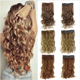 $enCountryForm.capitalKeyWord NZ - 24 inches Clip on Wire Fish Line Hair Extensions Secret Invisible Wire One Piece for Ombre Hair Synthetic Hairpiece