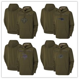 Discount gore windstopper - 2018 Mens New Orleans Sweatshirt Saints Salute to Service Sideline Therma Performance Pullover Hoodie Olive free shippin