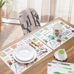 $enCountryForm.capitalKeyWord Australia - Wholesale- Fork Spoon Printed Dinner Placemats PVC Western Pad Insulation Dinning Table Mat Kitchen Plate Pot Mat Computer Pad