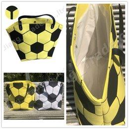 Designer geometric tote bag online shopping - Large Capacity Sports Handbag Designer Soccer Football Print Storage Bags Women Canvas One Shoulder Spherical Bag Fashion Ladies Tote A52004