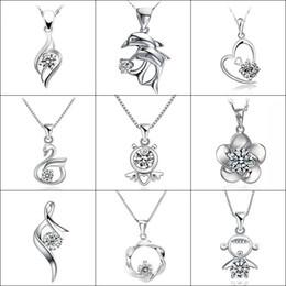 $enCountryForm.capitalKeyWord Australia - Sliver Necklace Chain Crystal for Women Rhinestone Charm Necklaces & Pendants Choker Colar Mujer Jewelry