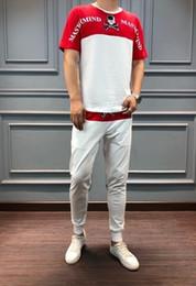 $enCountryForm.capitalKeyWord Australia - Men's set sequins embroidery pattern decorative pants waist letter pattern printing handsome two-piece sizeM-4XL