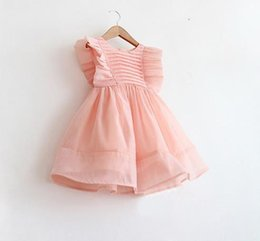 Wholesale Products For Girls Australia - DHgate New DHgate Kids Dresses For Girl Flounced Dress Of Product Two Colors From China Supplier