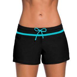 $enCountryForm.capitalKeyWord Australia - Women Swimsuit Shorts Tankini Swim Briefs Side Split Plus Size Bottom Boardshort Summer Beach Swimwear Trunks Lace-up Trunks