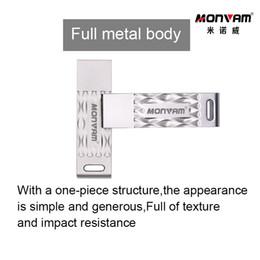 Vente en gros Clé USB Rectangulaire avec Wave Patter et boitier entièrement en métal Clé USB pour clé USB 2.0 pour mémoire Compatibilité multi-périphériques pour Monvam M82