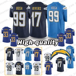 Los Angeles Jersey 33 Derwin James Charger 99 Joey Bosa 17 Philip Rivers  Jerseys Top quality Adult shirt 60ebaee9f
